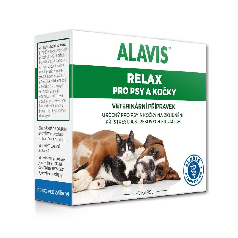 ALAVIS Relax pro psy a kočky 20 kapslí