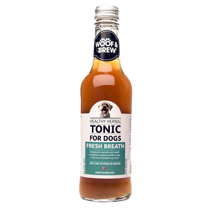 Woof & Brew bylinné tonikum pro psy čerstvý dech (60 dávek)