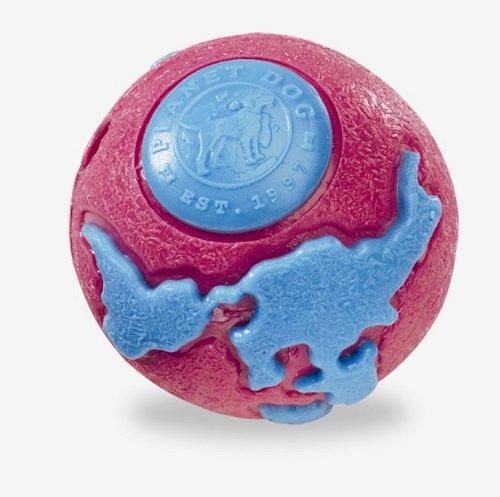 PLANET DOG hračka pro psa, Orbee-Tuff Lopta, modrá-růžová, velikost S