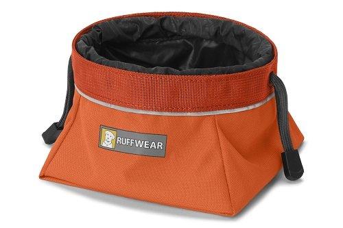 Ruffwear miska pro psy Quencher Cinch Top, oranžová, velikost L