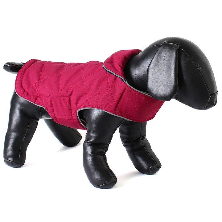 Doodlebone oboustranná zimní bunda, raspberry/navy, velikost XS