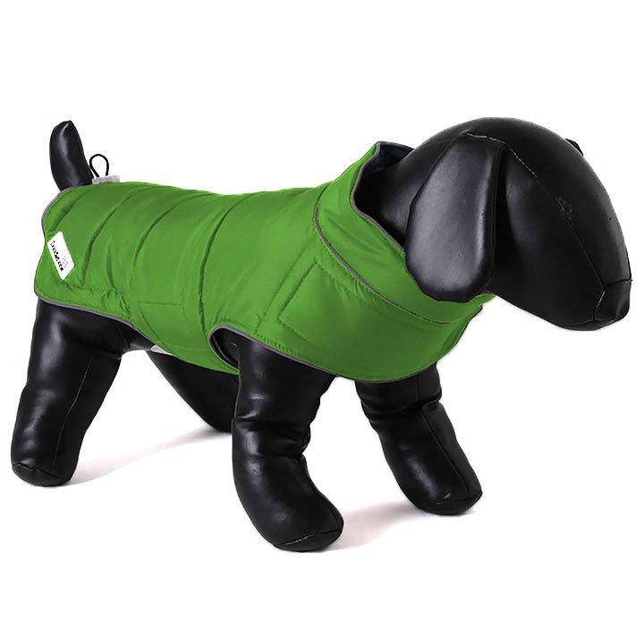 Doodlebone oboustranná zimní bunda, zelená/oranžová, velikost L