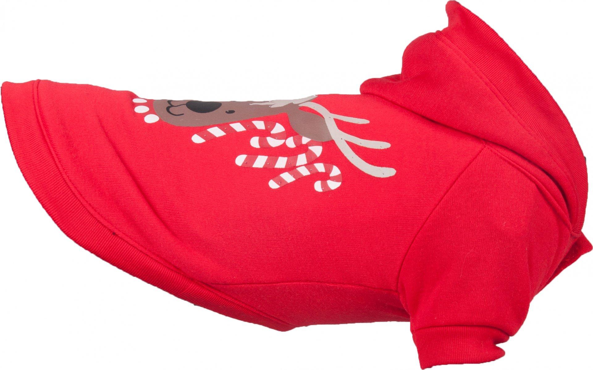 Flamingo Vánoční mikina pro psy červená 35cm